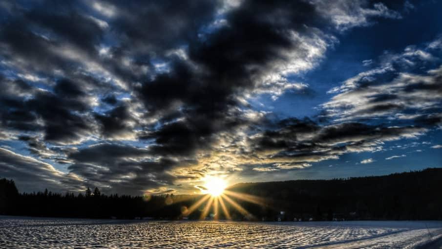 skyer,sol