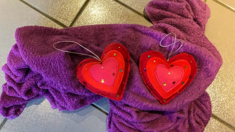 kjærlighet badehåndkle