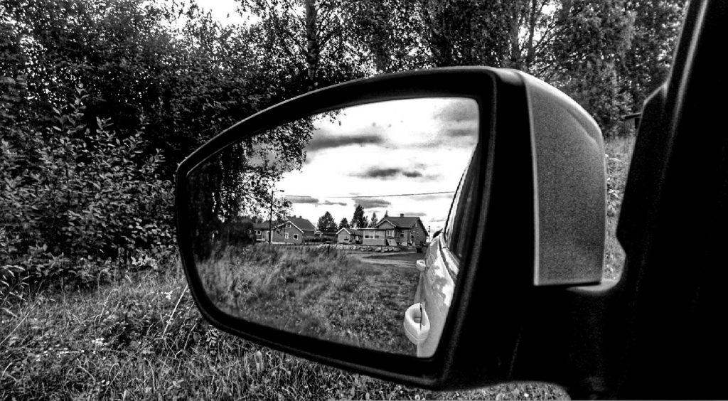 i speilet