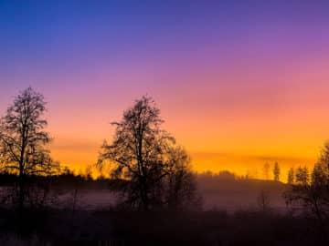 Lånte ord om en solnedgang som kom og forsvant.