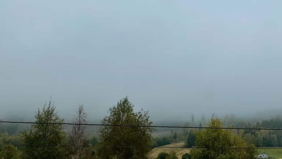 Så sitter jeg her da og ser ut i ei grå masse som kalles høstvær. Med høstvær kommer også de tunge tankene sigende.